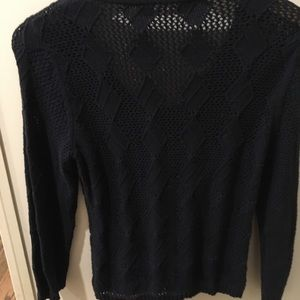 Anthropologie Sweaters - Ladies Navy open weave sweater size M